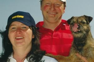 Silvia en Harald Paul met hond Rats
